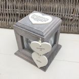 Shabby Chic PERSONALISED Rustic Wood In Memory Of Mum Mam Or ANY NAME Photo Cube